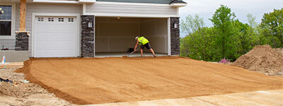 gravel driveway installation in Minneapolis, Minnesota