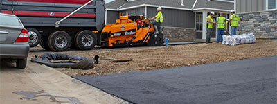 asphalt driveway installation in Minneapolis, Minnesota